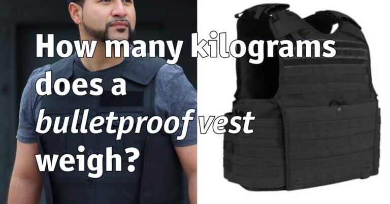 How many kilograms does a bulletproof vest weigh?